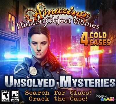 Computer Games - Amazing Hidden Object Games Unsolved Mysteries PC Game Window 10 8 7 XP Computer
