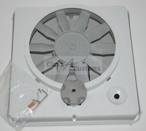 "RV VORTEX 1  universal roof vent fan kit upgrade 12 Volt 9"" Blade"