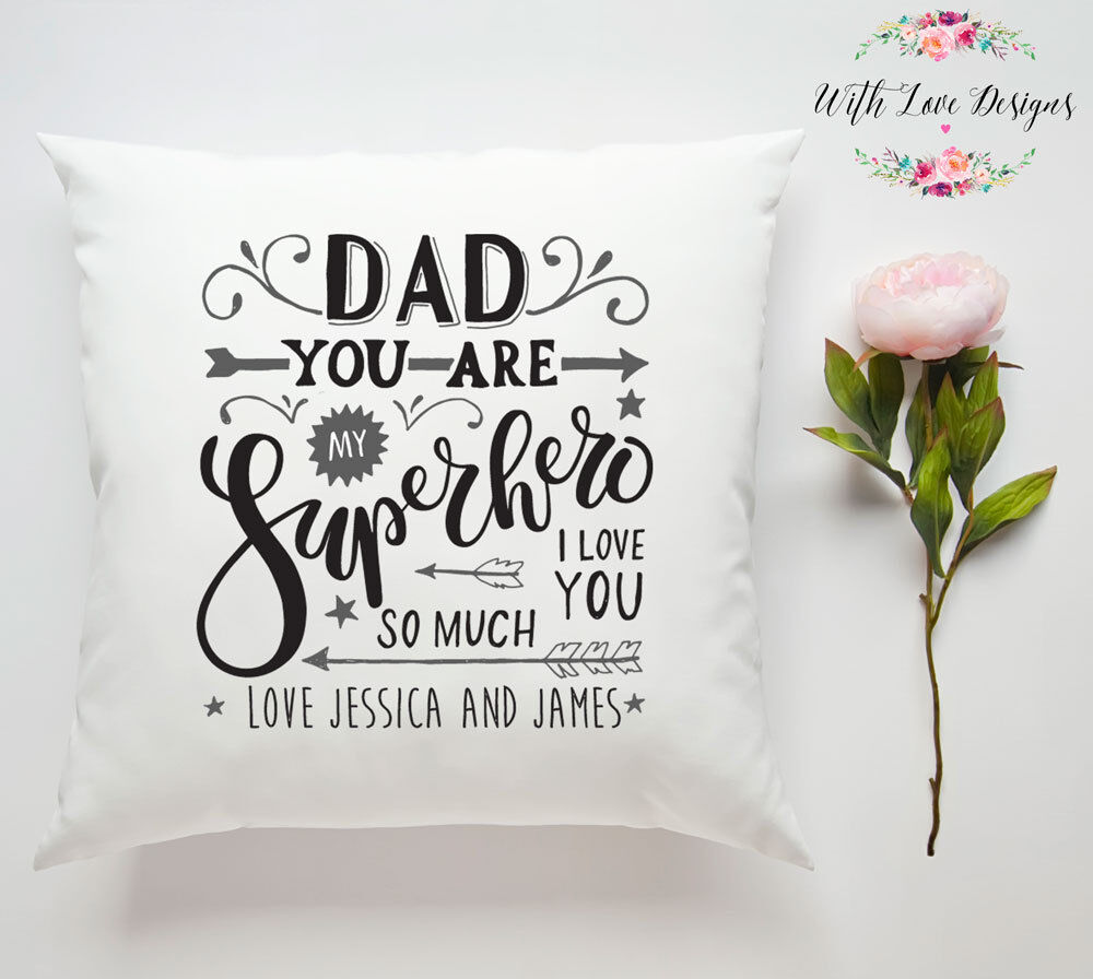 HUSBAND DAD DADDY FATHERS DAY PERSONALISED PILLOW CUSHION PHOTO GIFT PRESENT