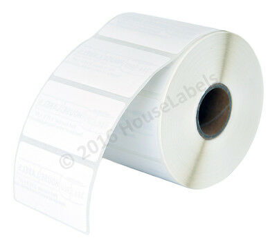 15 Rolls 15000 Labels 2.25x1.25 Direct Thermal Zebra Removable Lp2824 Lp2844
