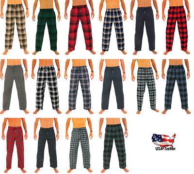 Flannel Mens Pajamas - Norty Mens Cotton Yarn Flannel Pajama Lounge Sleep Pant - 16 Prints Available