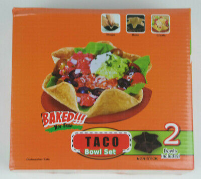 Set of 2 Taco Bowl Tortilla Shell Molds - Baked - Non-stick - NEW ()