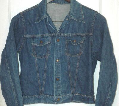 Vtg Montgomery Ward Denim Jean Jacket Rare Medium M Reg Snap Buttons