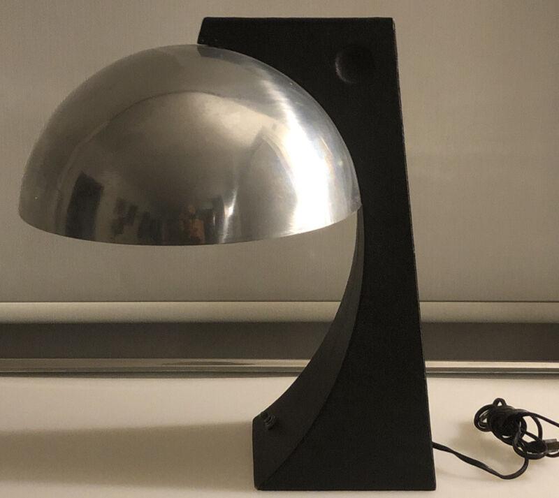 Mid Century Modern Atomic 60's Era Desk Table Lamp Chrome Dome Shade Cool Design