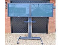 "Unicol Twin Monitor Stand on Wheels availble with 2 x 42"" Panasonic Monitors"