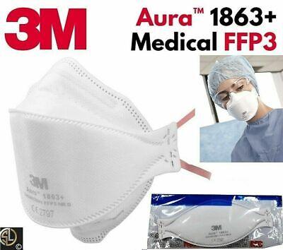 3M™ Aura™ Atemschutzmaske 1863+ FFP3 FFP 3 I ohne Ventil I Spezial Typ Medizin