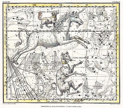 Astronomy Celestial Atlas Jamieson 1822 Plate-25 Art Paper or Canvas Print