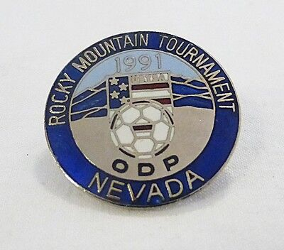 Collectible vintage 1991 rocky mountain tournament nevada soccer team sports pin