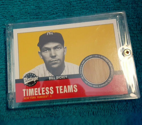 BILL DICKEY 2001 Upper Deck UD Vintage TIMELESS TEAMS GAME-USED BAT RELIC!