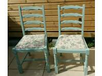 Pair of shabby chic chairs,dining room, bedroom...