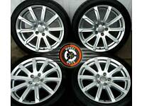 "18"" Genuine Audi 10 spoke upgrade alloys, 5x112, excellent condition, matching premium tyres."