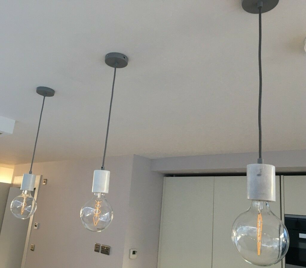 EXCELLENT CONDITION 3X HEALS BRISTOL PENDANT LIGHTS AND