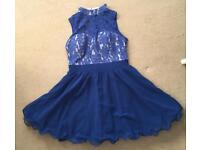 Chi Chi London Blue Dress Size 14