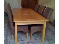 Dining Room Table & chairs & Sideboard