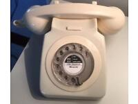 Vintage 1970s Telephone (rewired with modern BT plug)