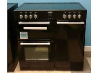 e751 black belling 90cm electric cooker comes with warranty can be delivered or collected