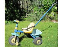 CHILD'S TRIKE - with safety harness and adsult safety handle