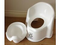 Baby Bjorn white high back ergonomic potty chair