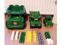 For sale TOY John Deere trucks and 'Mega Bloks' Childern Toys