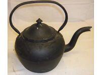 Antique Cast Iron Black Kettle