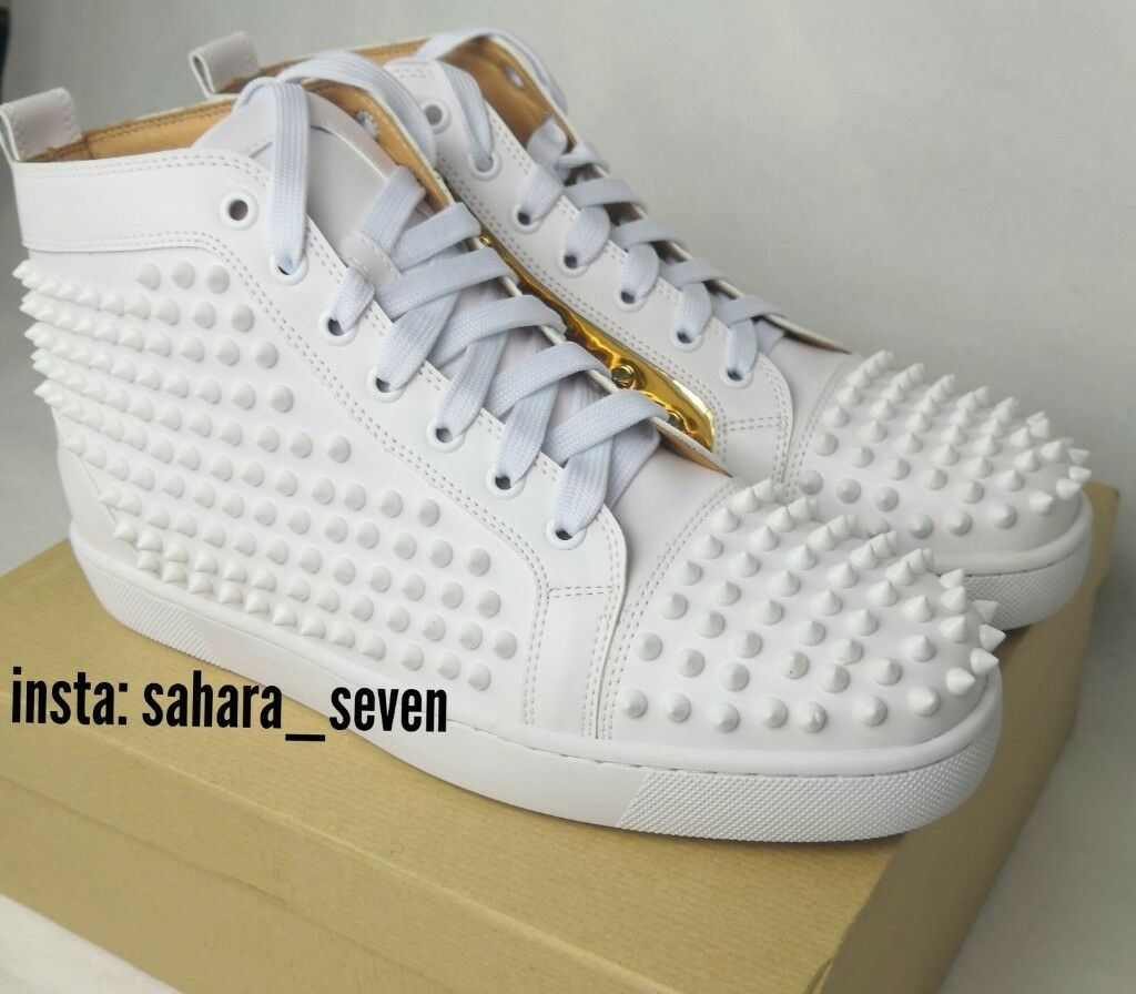 wholesale dealer 4a78a c4297 Mens Christian Louboutin Spikes White and Gold 2018 Edition £120 Shoes  Spike Boots Red Sole | in Hammersmith, London | Gumtree