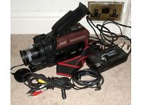 Faulty JVC GR-65E VHS-C Camcorder With PSU & AV Lead For Spares Repair