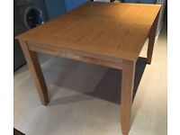 Wood (John Lewis) dining table for 6 - extendable