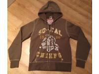 Brand new authentic men's medium True Religion hoodie. Mint condition. Vintage design from 2011
