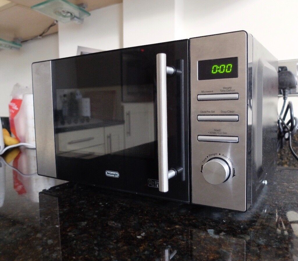 Delonghi 800w Standard Microwave Am82 Stainless Steel Must Go Returning To Nz Imminently