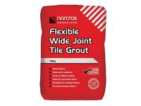 Norcros tile Grout 3 X10kg unopened bags of limestone grout.