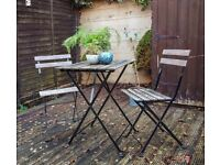 IKEA Tarno outdoor table and two chairs