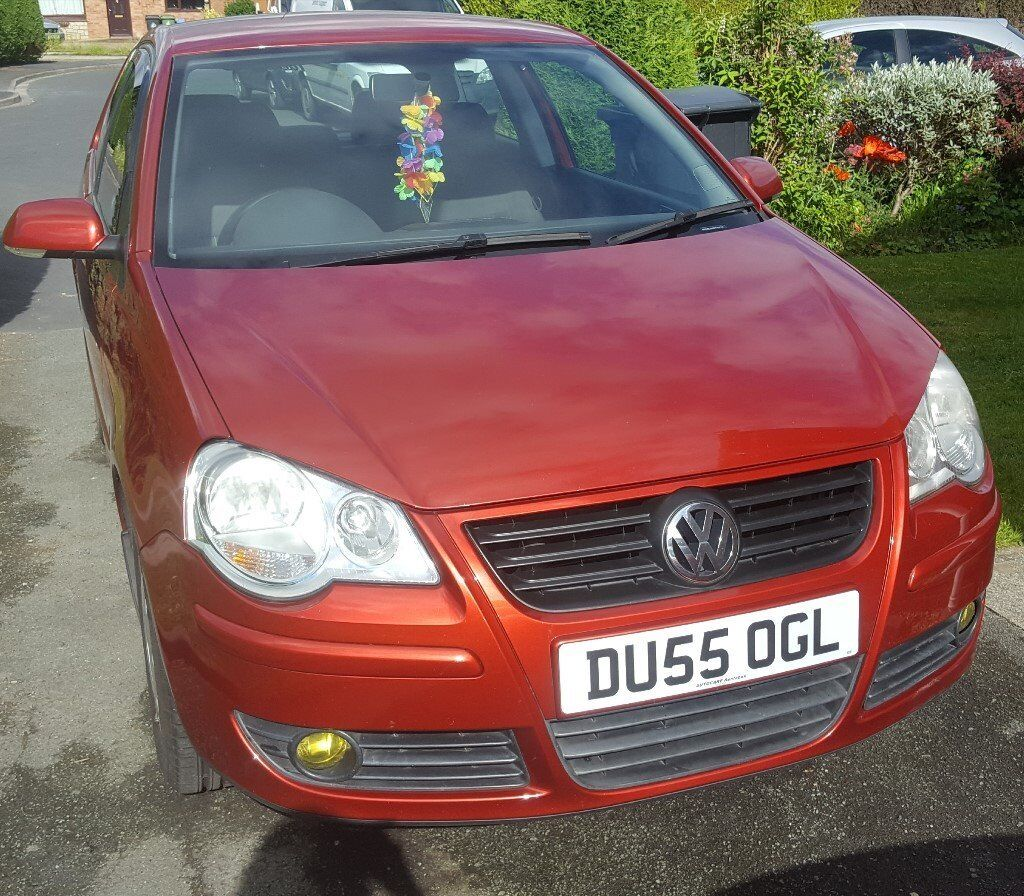 Volkswagen Polo S 1.4 in Sunset Red Metallic, great first car!