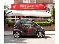 "Experienced waitress for busy Chelsea restaurant (Riccardo's - ""A Taste of Tuscany"") ...."