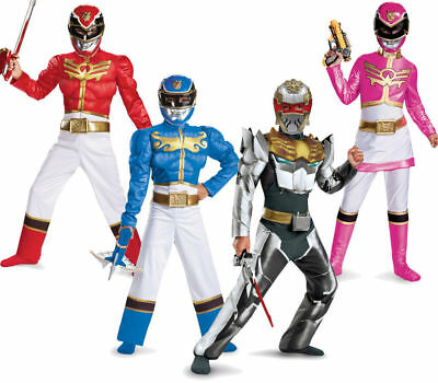 Power Rangers Child Costume (Child TV Show Nick Super Power Rangers MegaForce Classic Deluxe Muscle)