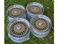 Oz vega 3 piece 15 wheels vw golf bbs rs