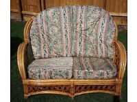 Wicker Cane Conservatory 2 Seater Sofa