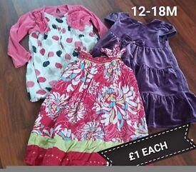 Baby dresses £1 each