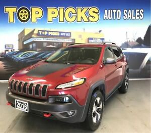 2016 Jeep Cherokee TRAILHAWK, V6, LEATHER, SUNROOF, NAVI!