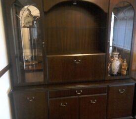 Dark wood display cabinet(sideboard)