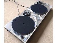 2 X Technics SL-1200 MK2 Turntables With Custom Desert Camo Covers