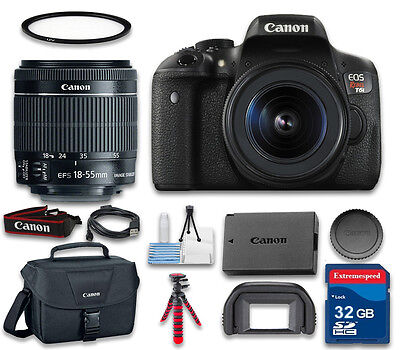 Canon EOS T6i Digital SLR Camera with Canon EF-S 18-55mm f/3.5-5.6 IS STM Lens