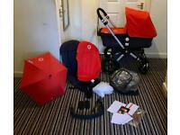 Immaculate Bugaboo Cameleon 2 in Tangerine&Charcoal with many extras!