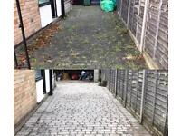 Leicester driveway cleaning algae moss weed removal jet washing pressure service