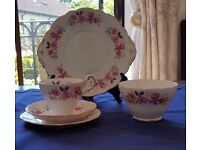 Bone China Tea Service - Grosvenor - Silver Rose
