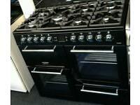 *** LAST ONE ***BRAND NEW DUAL FUEL BLACK LEISURE 100CM Range Cooker