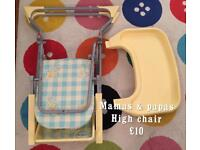 High chair - mamas and papas