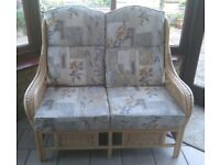 Cane Sofa and Chairs.