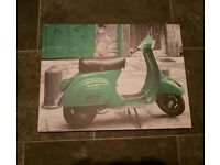 Colourful Wall Art | Vespa Motorbike | Wall Hangings | Art | House Clearance | Mexborough