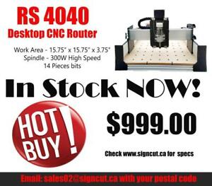 CANADIAN STOCK AVAILABLE! RS4040 CNC Router