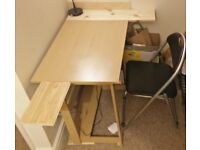 Desk table with extensions